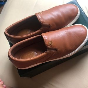 Polo Tan Super Soft Leather Slip Ons
